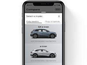 Audi's EV&me mobile app
