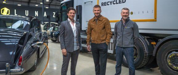 David Beckham at Lunaz base at Silverstone